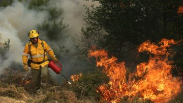 Fires on the center of Portugal