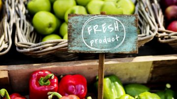 Organic fresh agricultural product at the farmer market
