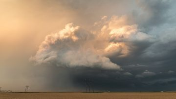 Amazing Convection and Colors at the Back of a Storm